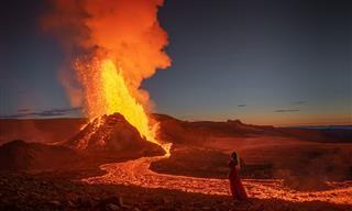 Los Mágicos Resultados De Una Sesión De Fotos Cerca De Un Volcán Activo