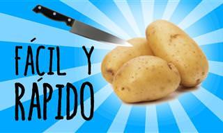 Cómo Pelar Una Patata En Menos De Tres Segundos
