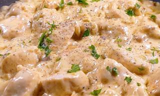 Receta: Pechugas De Pollo En Salsa De Queso