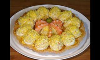Prepara Los Mejores Huevos Rellenos De Marisco