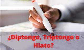 Test: ¿Diptongo, Triptongo o Hiato?