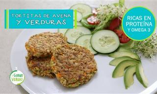 Deliciosas y Económicas Tortitas De Avena Con Verduras