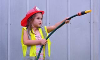 Chiste: La pequeña bombera