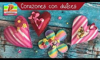 Manualidades Para San Valentín: Corazones Rellenos de Dulces