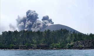 La Estruendosa Erupción Del Volcán Krakatoa En Indonesia
