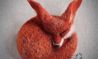 Esculturas De Animales Hechas Con Lana