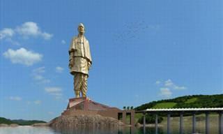 La Estatua De La Unidad En La India Está a Punto De Completarse
