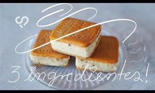 Cómo Preparar Un Sándwich Helado 3 Ingredientes: Súper Fácil