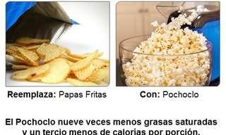 Reemplazos saludables para alimentos diarios