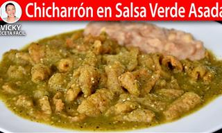 Deliciosa Receta: Chicharrón En Salsa Verde Asada