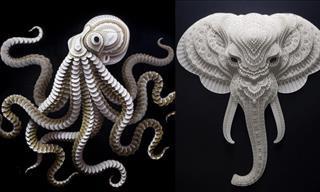 12 Increíbles Imágenes De Obras De Arte De Animales Hechas Con Papel