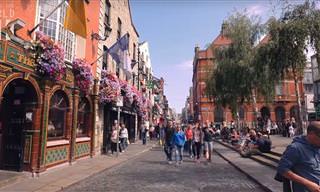 Visita Dublín Rápidamente En Resolución 4k. ¡Precioso!