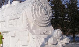 Más De 20 Impresionantes Esculturas De Invierno