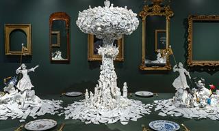 Cerámicas Dañadas Son Transformadas En Bellas Obras De Arte