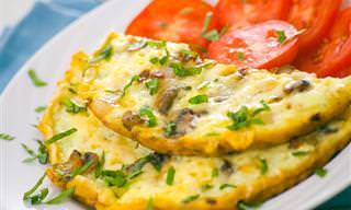 Prepara Un Omelette De Champiñones En 10 Minutos