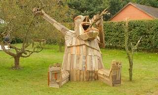 Sorprendentes Esculturas Gigantes En Madera