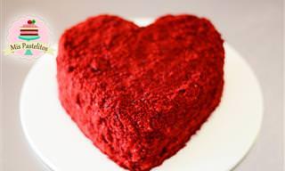 Receta San Valentín: Torta Red Velvet Con Forma De Corazón