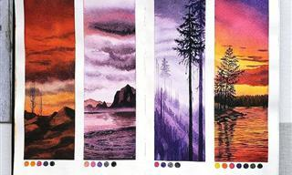 Pinturas En Acuarela Que Reflejan La Serenidad De La Naturaleza