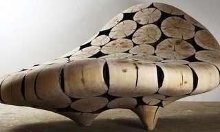 ¡Esculturas Orgánicas De Madera Reciclada!