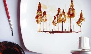 Increíbles Creaciones De Pinturas Con Café