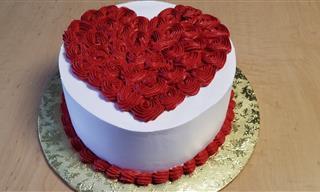 Prepara Un Pastel De Corazón Para El Día Del Amor