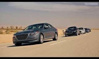 La Peligrosa Caravana De Autos De Hyundai