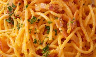 Espaguetis A La Carbonara En Unos Pocos Minutos