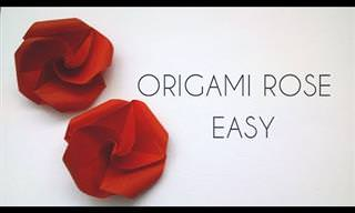 Cómo Hacer Rosas De Papel Origami Simples y Hermosas