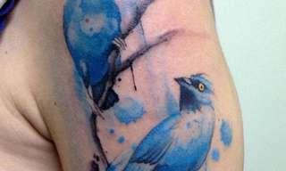 Los Asombrosos Tatuajes De Acuarela