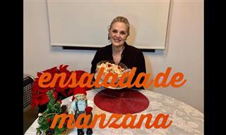 Receta De La Ensalada De Manzana Navideña
