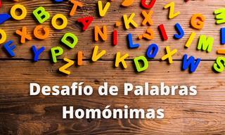 Test De Palabras Con Homónimas