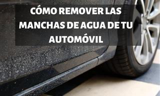 Elimina Las Manchas De Agua De Tu Auto Con Estos Consejos