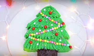 Recetas De Navidad: Brownie De Arbolito Navideño