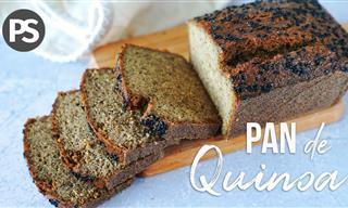 Pan De Quinoa Con 4 Ingredientes y Sin Gluten