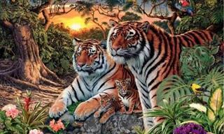 Acertijo: ¿Cuántos Tigres Hay En La Imagen?