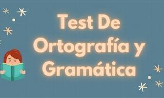 Test De Ortografía y Gramática En Español