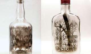 Las Pinturas En Botellas De Jim Dingilian