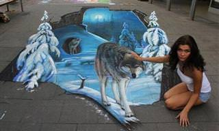 Artista Ruso Crea Impresionantes Pinturas En 3D En Aceras