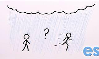 Cuando Llueve, ¿Es Mejor Caminar o Correr?