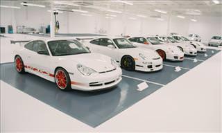 La Última Colección De Automóviles Blancos De Porsche