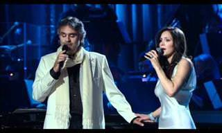 "Andrea Bocelli y Katharine McPhee Cantan ""The Prayer"""