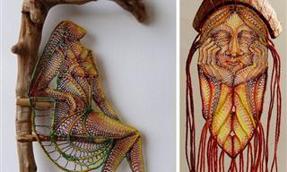 Una Artista Húngara Capaz De Crear Arte Con Encaje