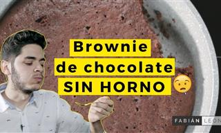 Brownie De Avena y Chocolate a La Sartén