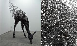 Admira La Belleza De 12 Expresivas Esculturas De Alambre