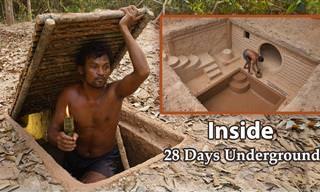 Un Hombre Construye Una Casa Subterranea Con Alberca