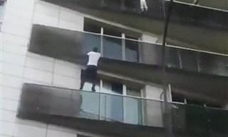 No Te Pierdas El Rescate Heroico Del Spiderman De París