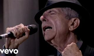 Leonard Cohen Interpreta Su Clásico Éxito Hallelujah