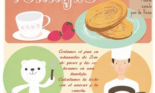 Divertidas Recetas Ilustradas Para Aprender a Cocinar