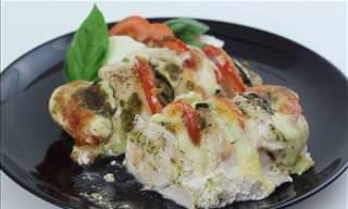 DELICIOSO: Pollo Mediterráneo relleno de Caprese