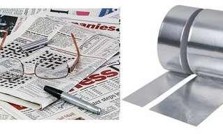 Insólitos Usos Del Papel De Diario y Aluminio